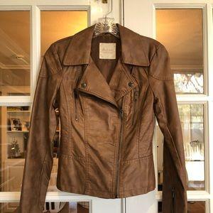 Brown zip front jacket